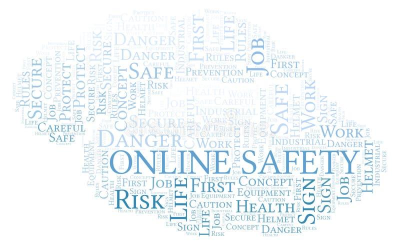 Σε απευθείας σύνδεση σύννεφο λέξης ασφάλειας ελεύθερη απεικόνιση δικαιώματος