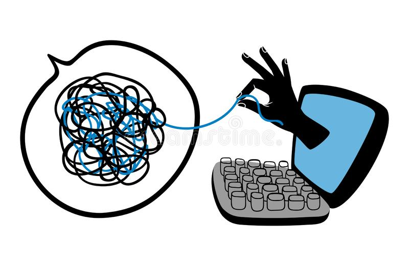 Σε απευθείας σύνδεση ψυχολογική βοήθεια απεικόνιση αποθεμάτων