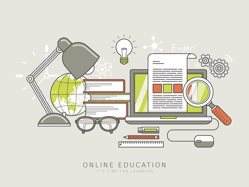 Σε απευθείας σύνδεση έννοια εκπαίδευσης διανυσματική απεικόνιση