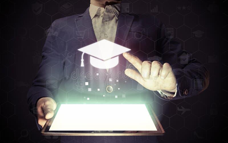 Σε απευθείας σύνδεση έννοια εκπαίδευσης στοκ εικόνες