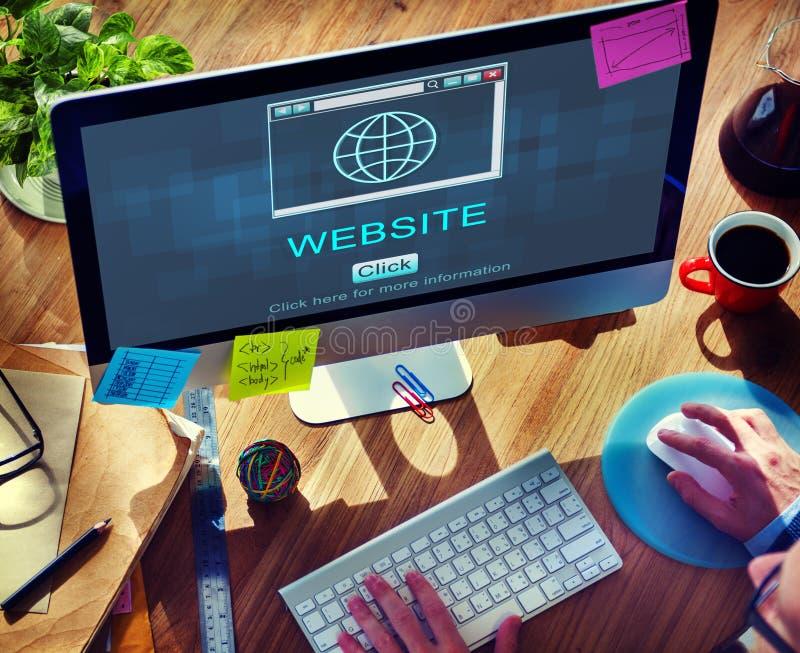 Σε απευθείας σύνδεση έννοια τεχνολογίας φιλοξενίας Ιστού ιστοχώρου SEO στοκ εικόνες