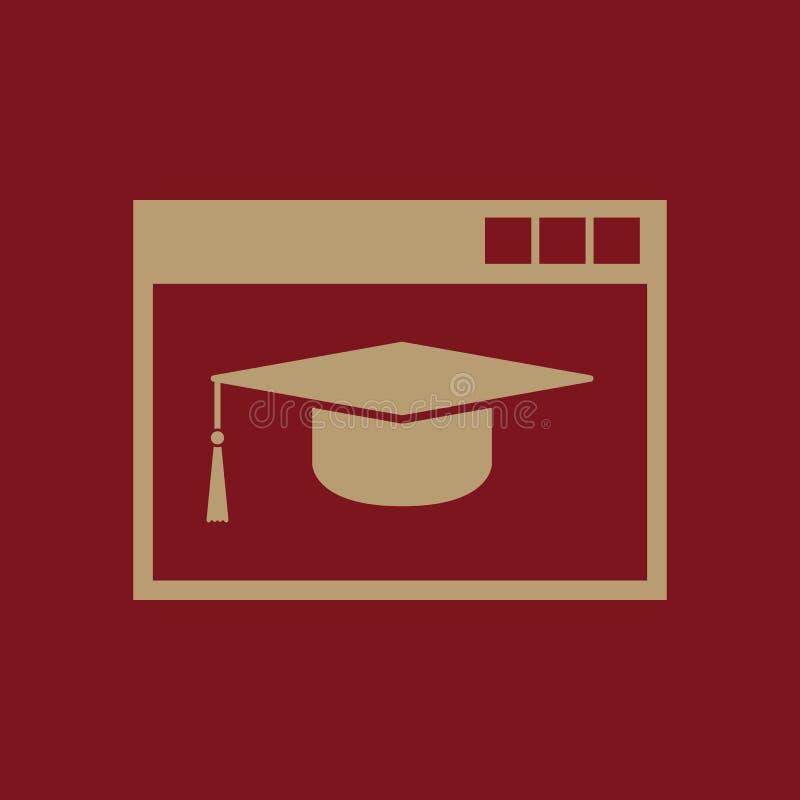 Σε απευθείας σύνδεση εικονίδιο εκπαίδευσης eps σχεδίου 10 ανασκόπησης διάνυσμα τεχνολογίας Σύμβολο εκπαίδευσης Ιστός γραφικός jpg διανυσματική απεικόνιση