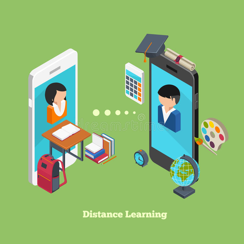 Σε απευθείας σύνδεση εκμάθηση απόστασης απεικόνιση αποθεμάτων