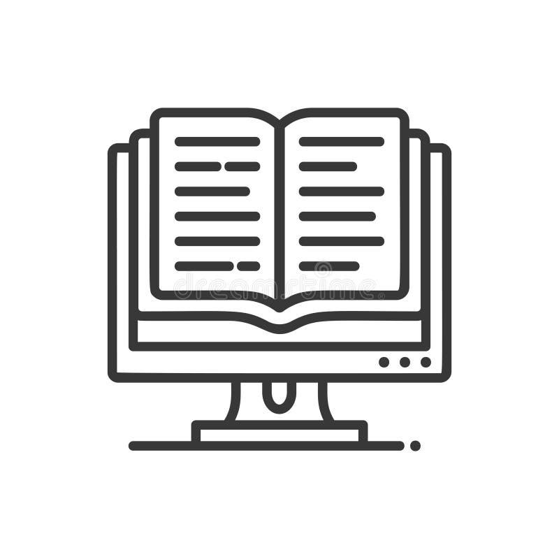 Σε απευθείας σύνδεση εκπαίδευση - σύγχρονο διανυσματικό ενιαίο εικονίδιο γραμμών απεικόνιση αποθεμάτων