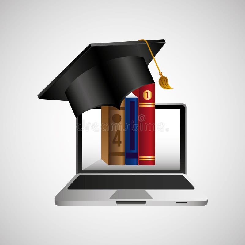 Σε απευθείας σύνδεση ε-εκμάθηση έννοιας εκπαίδευσης γραφική διανυσματική απεικόνιση