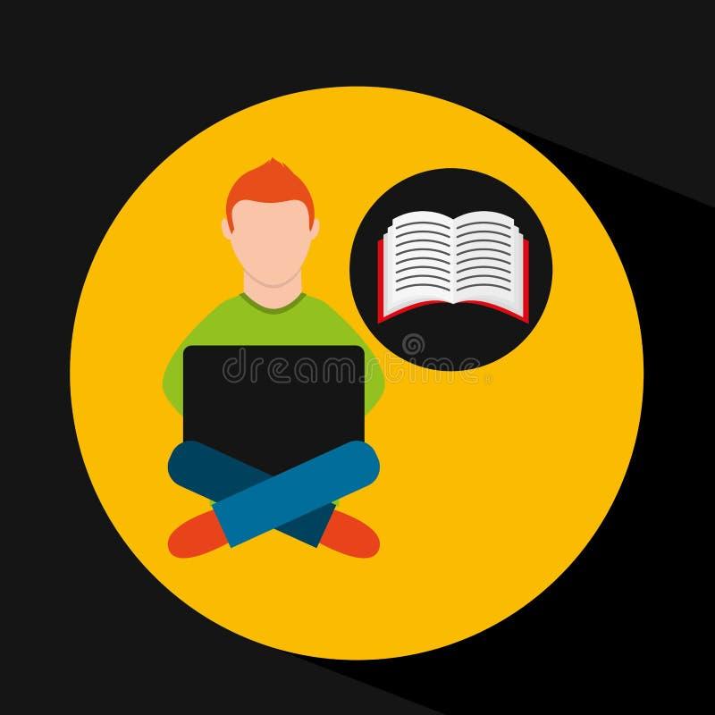 Σε απευθείας σύνδεση ε-εκμάθηση εκπαίδευση-σπουδαστών κατάρτισης απεικόνιση αποθεμάτων