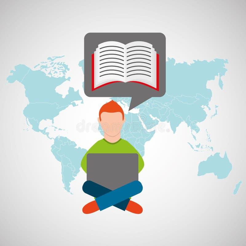 Σε απευθείας σύνδεση ε-εκμάθηση εκπαίδευση-σπουδαστών κατάρτισης ελεύθερη απεικόνιση δικαιώματος