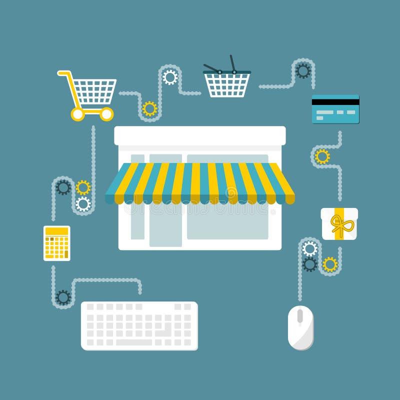 Σε απευθείας σύνδεση κατάστημα απεικόνιση αποθεμάτων