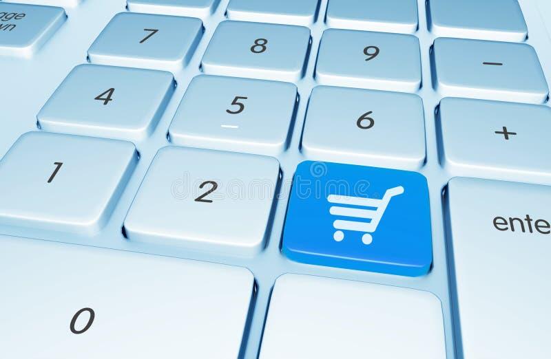 Σε απευθείας σύνδεση κουμπί αγορών ελεύθερη απεικόνιση δικαιώματος
