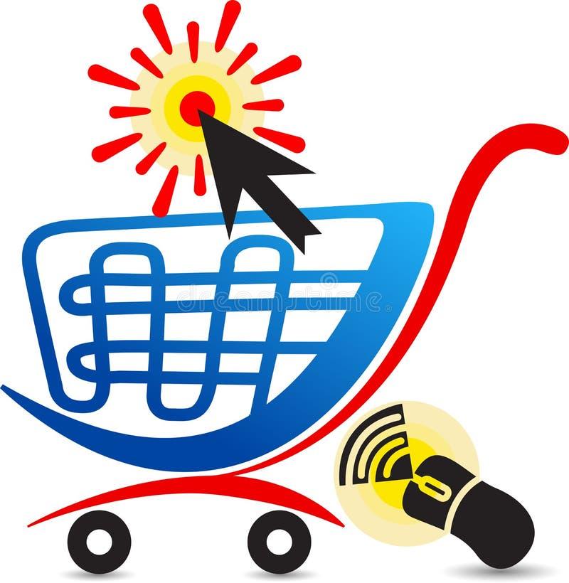 Σε απευθείας σύνδεση λογότυπο αγορών απεικόνιση αποθεμάτων