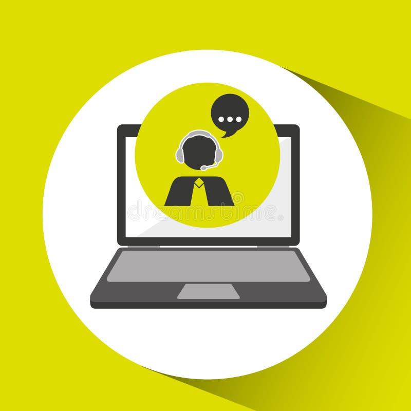 Σε απευθείας σύνδεση πελάτες βοήθειας τηλεφωνικών κέντρων ελεύθερη απεικόνιση δικαιώματος
