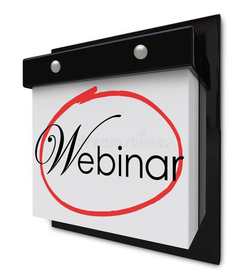 Σε απευθείας σύνδεση σεμινάριο υπενθυμίσεων ημερομηνίας ημερολογιακής ημέρας Webinar που μαθαίνει Sessi απεικόνιση αποθεμάτων