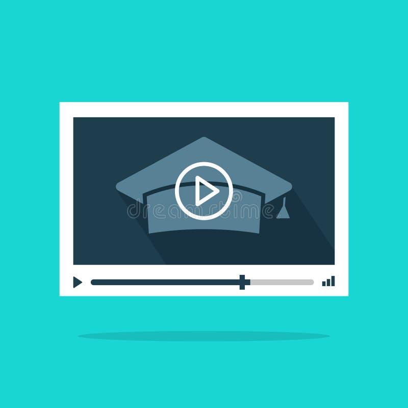 Σε απευθείας σύνδεση τηλεοπτικό διάνυσμα εκπαίδευσης, έννοια της μακρινής ή από απόσταση εκμάθησης, webinar, σεμινάρια απεικόνιση αποθεμάτων