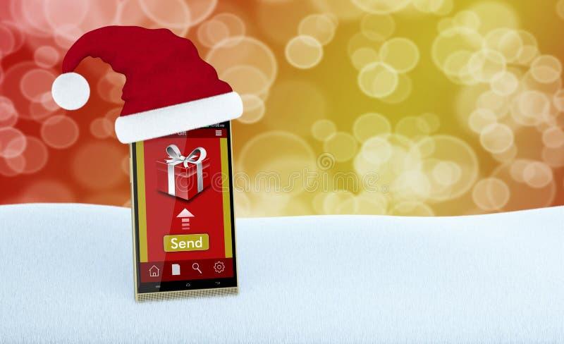 Σε απευθείας σύνδεση δώρα Χριστουγέννων διανυσματική απεικόνιση