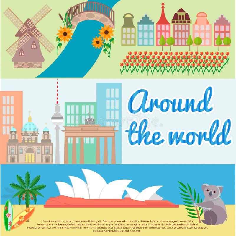σε όλο το διακινούμενο &kapp Ολλανδία, Βερολίνο, Αυστραλία ελεύθερη απεικόνιση δικαιώματος