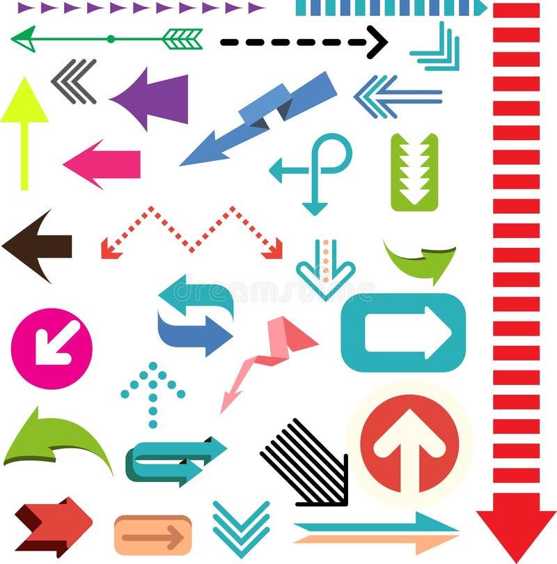 Σημάδια βελών χρώματος απεικόνιση αποθεμάτων