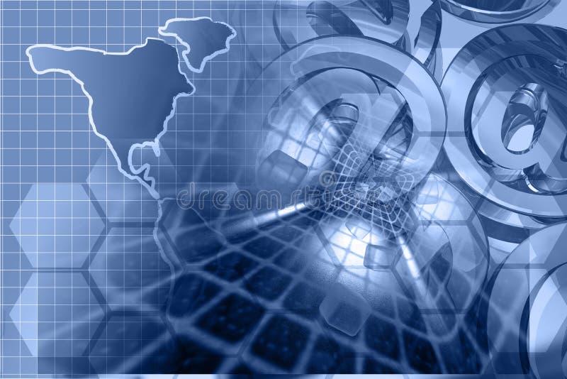 Σημάδια και χάρτης ταχυδρομείου απεικόνιση αποθεμάτων