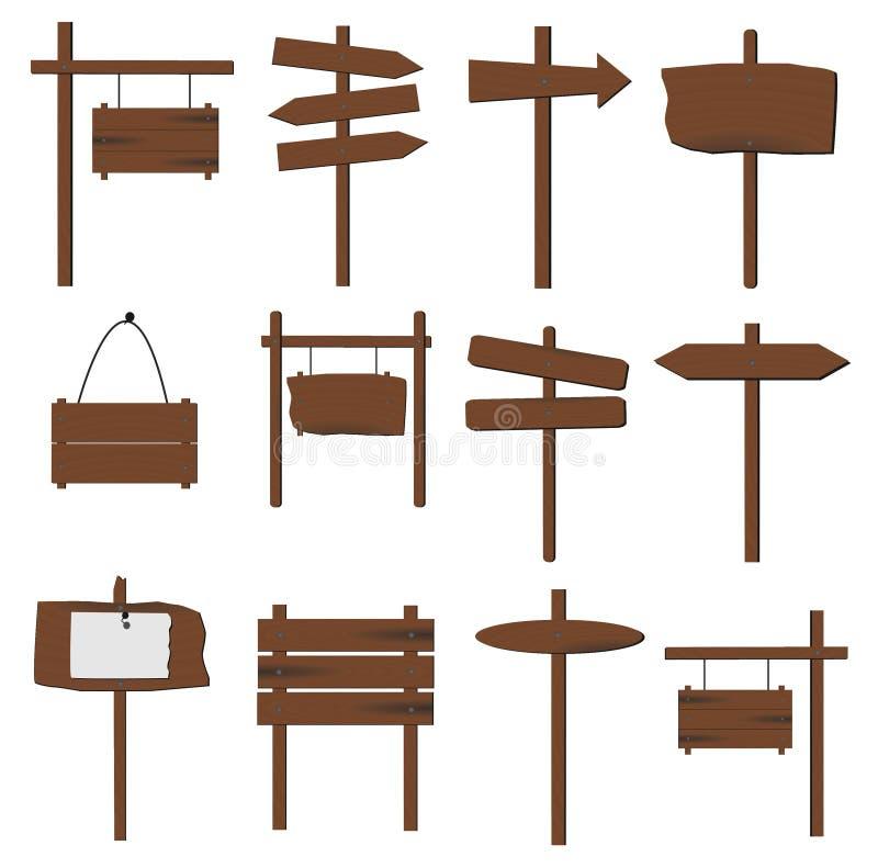 σημάδια ξύλινα απεικόνιση αποθεμάτων