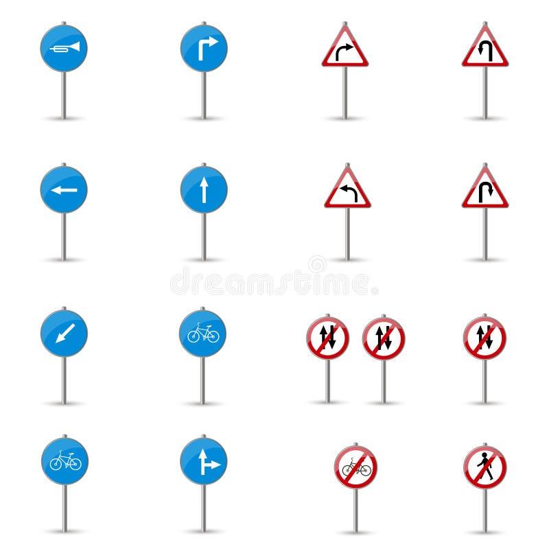 σημάδια οδικού συνόλου απεικόνιση αποθεμάτων