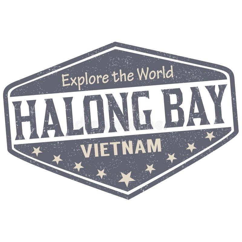 Σημάδι ή γραμματόσημο κόλπων Halong απεικόνιση αποθεμάτων