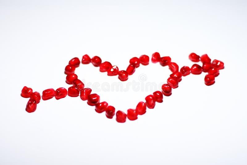 σημάδι αγάπης βελών στοκ εικόνα με δικαίωμα ελεύθερης χρήσης