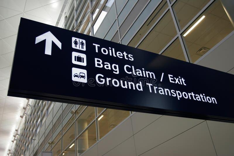 σημάδι αερολιμένων στοκ εικόνα με δικαίωμα ελεύθερης χρήσης