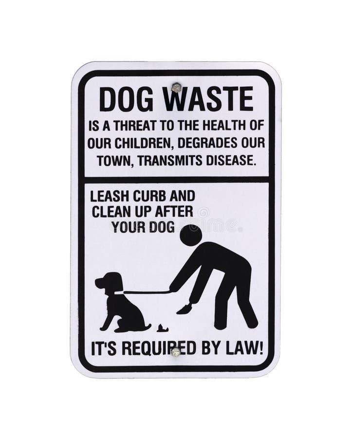 Σημάδι αποβλήτων σκυλιών στοκ εικόνα