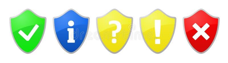 σημάδι ασπίδων ασφάλειας ελεύθερη απεικόνιση δικαιώματος