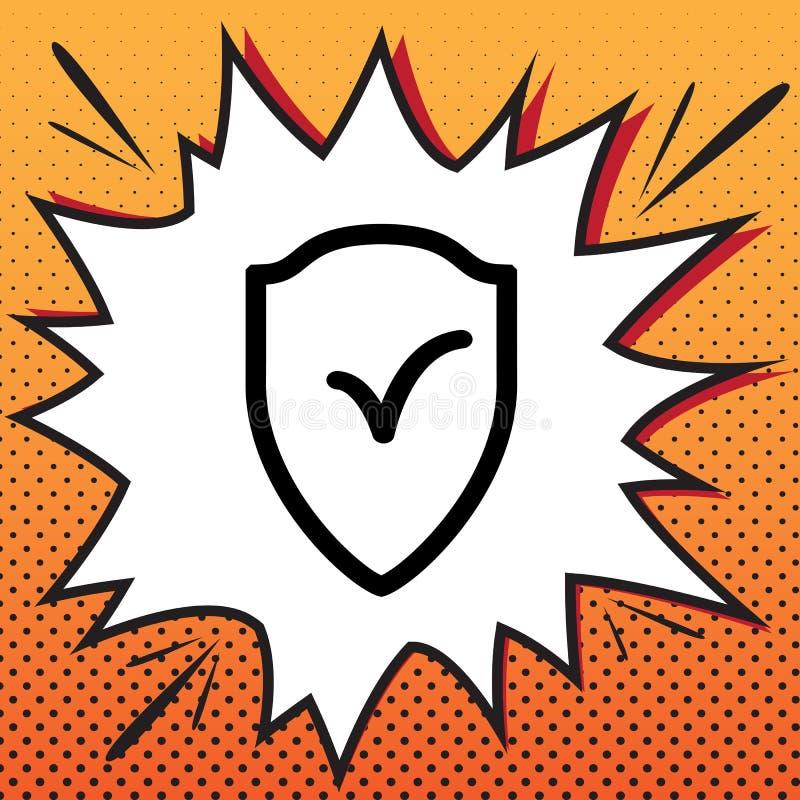Σημάδι ασπίδων ως προστασία και ασφαλιστικό σύμβολο διάνυσμα Comics s ελεύθερη απεικόνιση δικαιώματος