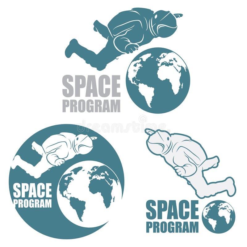 Σημάδι αστροναυτών διανυσματική απεικόνιση