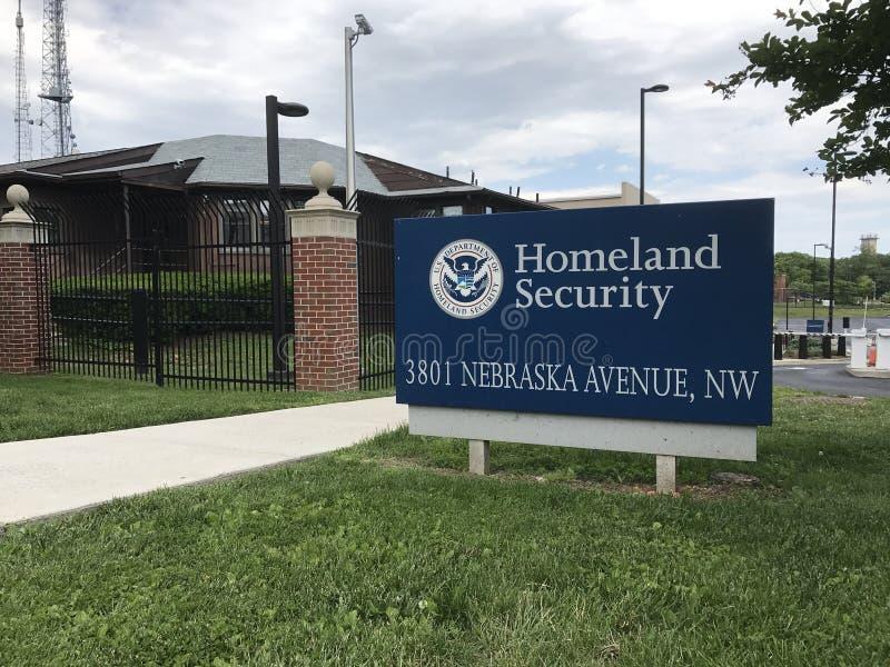 Σημάδι ασφάλειας Ηνωμένης πατρίδας στοκ εικόνα