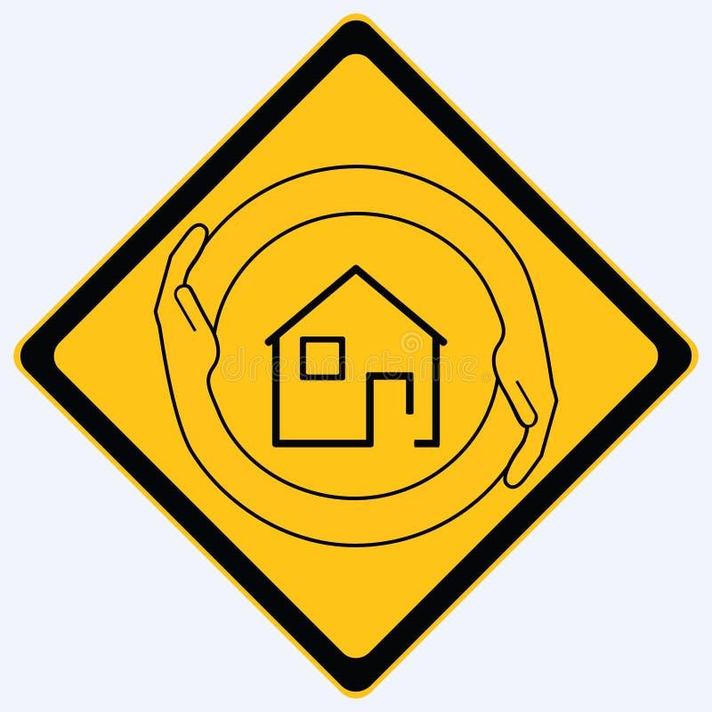 σημάδι ασφάλειας σπιτιών διανυσματική απεικόνιση