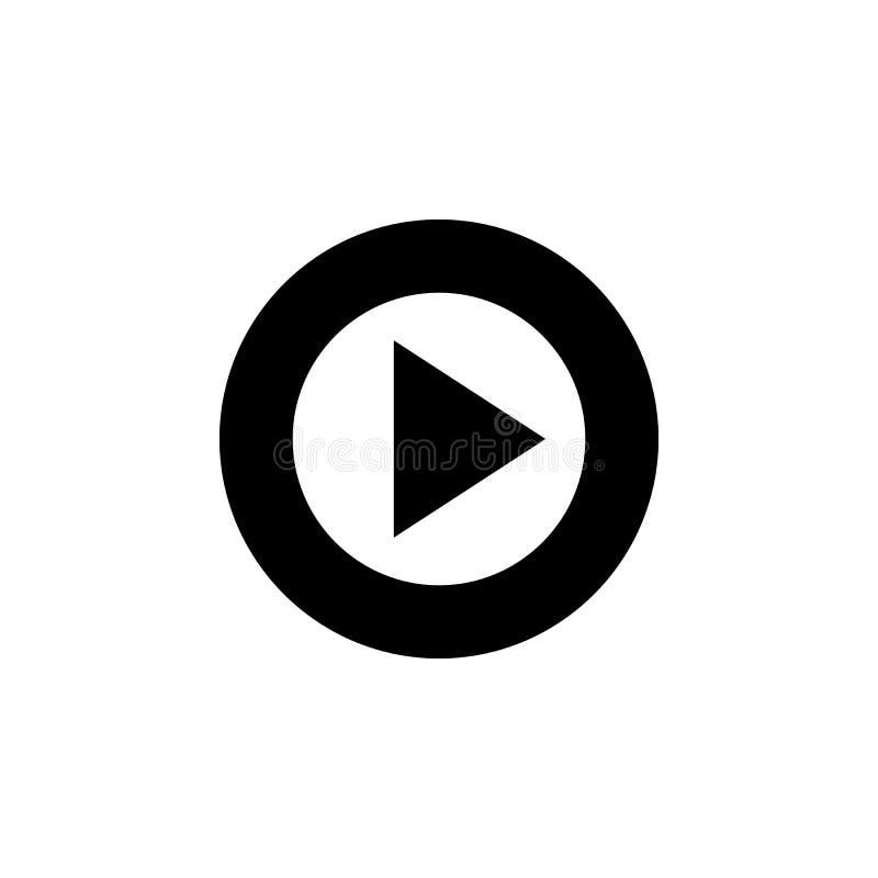 σημάδι για το παιχνίδι σε ένα εικονίδιο κύκλων Στοιχείο του minimalistic εικονιδίου για την κινητούς έννοια και τον Ιστό apps Εικ διανυσματική απεικόνιση