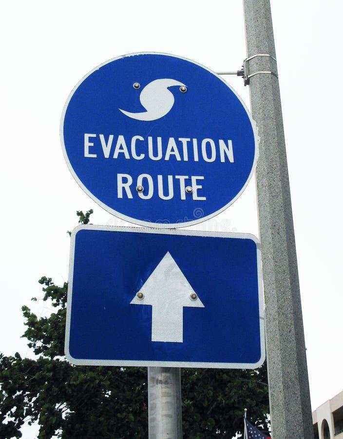 Σημάδι διαδρομών εκκένωσης τυφώνα στοκ εικόνες με δικαίωμα ελεύθερης χρήσης