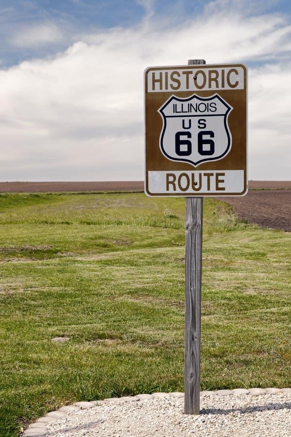 σημάδι διαδρομών 66 δρόμων στοκ φωτογραφία με δικαίωμα ελεύθερης χρήσης