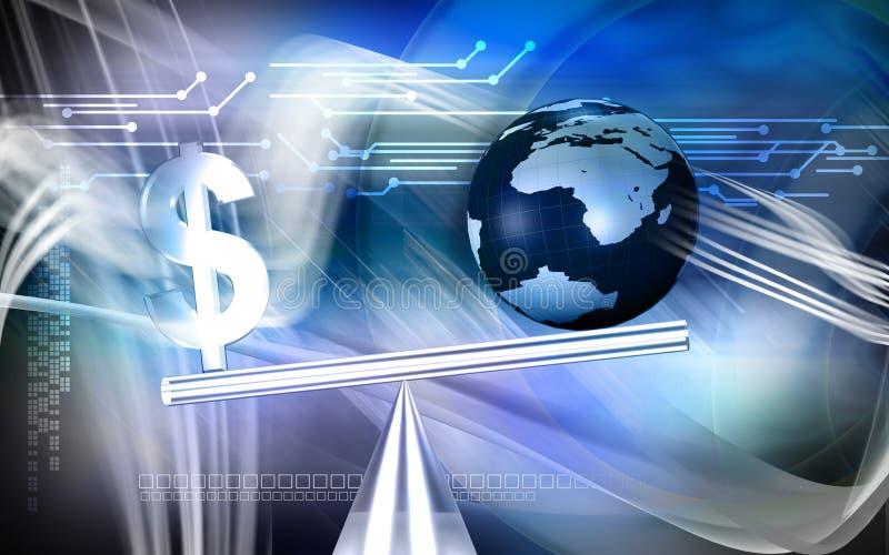 σημάδι δολαρίων ισορροπί&alp απεικόνιση αποθεμάτων