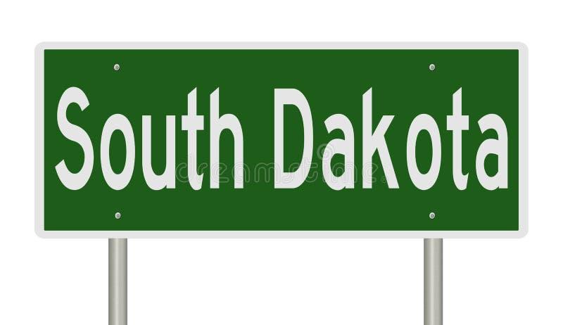 Σημάδι εθνικών οδών για τη νότια Ντακότα απεικόνιση αποθεμάτων