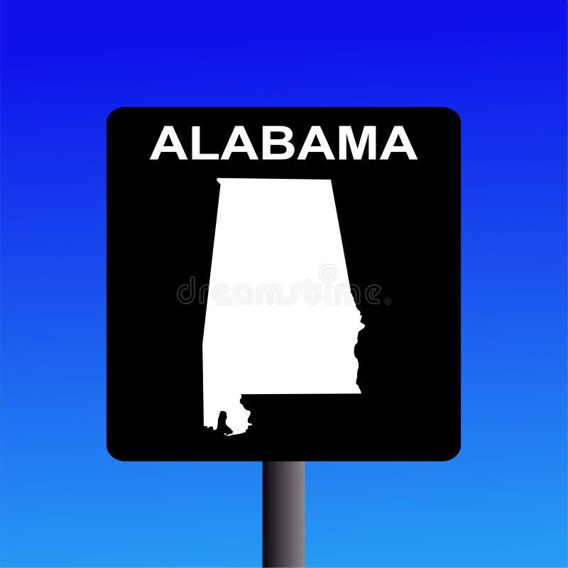 σημάδι εθνικών οδών της Αλαμπάμα απεικόνιση αποθεμάτων