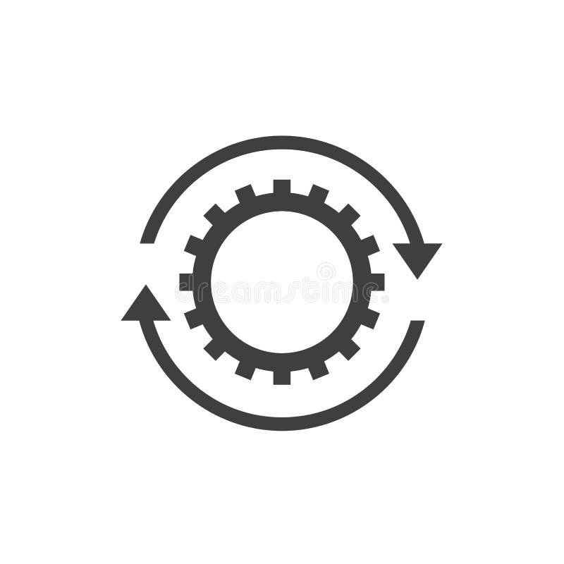 Σημάδι εικονιδίων ροής της δουλειάς διανυσματική απεικόνιση