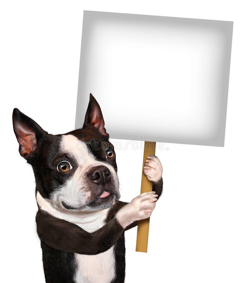 Σημάδι εκμετάλλευσης σκυλιών ελεύθερη απεικόνιση δικαιώματος