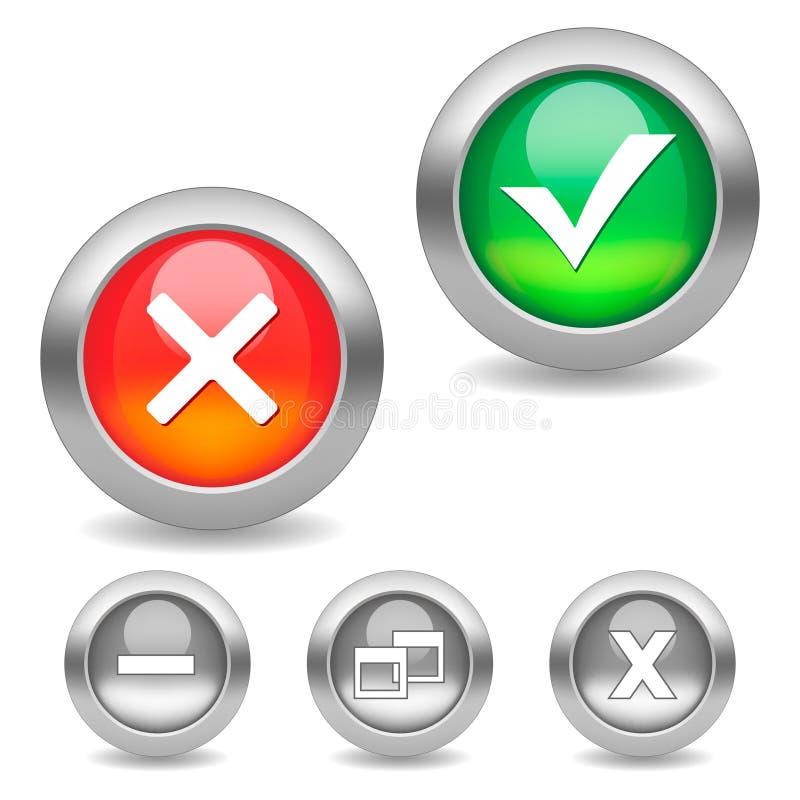 σημάδι ελέγχου κουμπιών διανυσματική απεικόνιση
