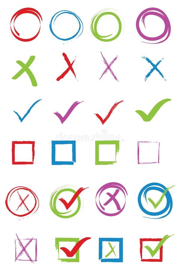 Σημάδι ελέγχου απεικόνιση αποθεμάτων