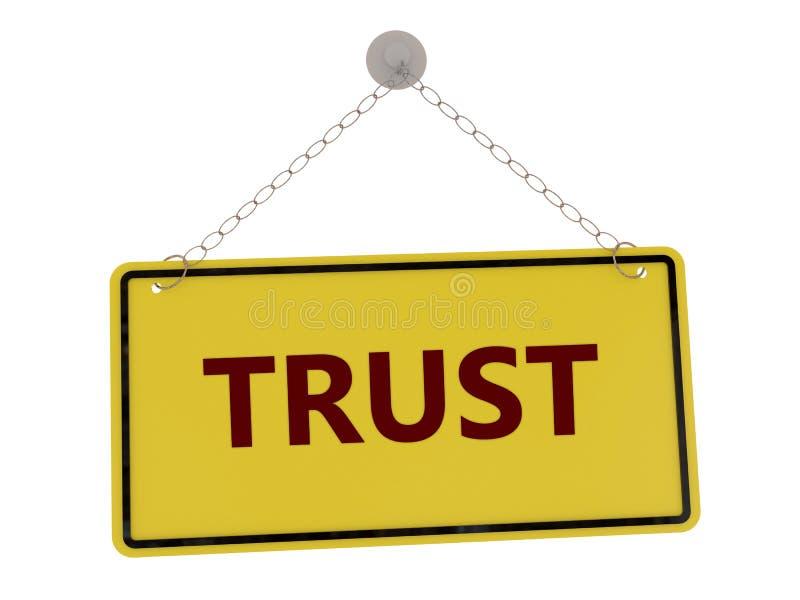 Σημάδι εμπιστοσύνης διανυσματική απεικόνιση