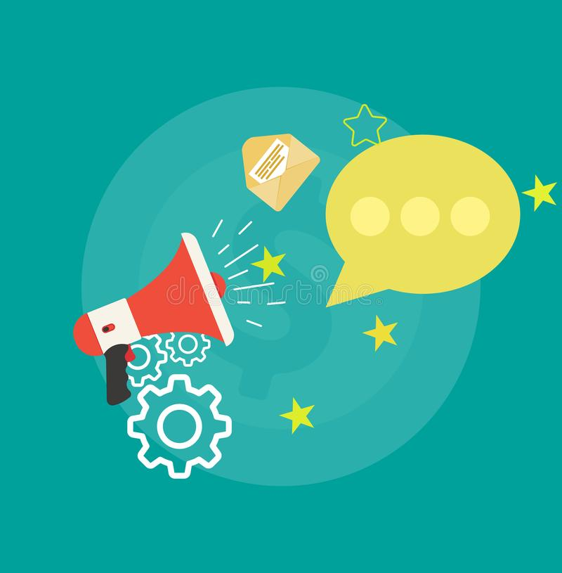 Σημάδι εφαρμογής ανακοίνωσης έννοιας επικοινωνίας Απομονωμένο συσκευή εικονίδιο μηνυμάτων ιστοχώρου Διανυσματικό ηλεκτρονικό mai  απεικόνιση αποθεμάτων