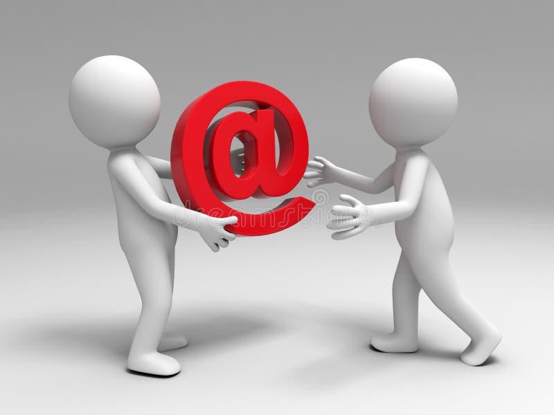 Σημάδι ηλεκτρονικού ταχυδρομείου ελεύθερη απεικόνιση δικαιώματος
