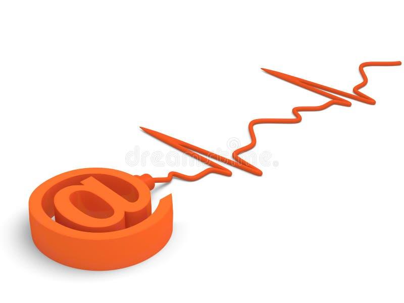 σημάδι ηλεκτρονικού ταχυδρομείου στοκ εικόνα