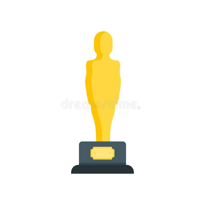 Σημάδι και σύμβολο εικονιδίων του Oscar που απομονώνονται στο άσπρο υπόβαθρο ελεύθερη απεικόνιση δικαιώματος