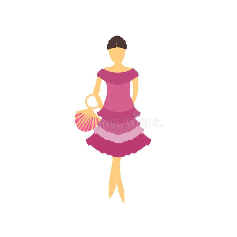 Σημάδι και σύμβολο μόδας θηλυκό πρότυπο διανυσματικό διανυσματικό που απομονώνονται στο άσπρο υπόβαθρο, θηλυκή πρότυπη διανυσματι ελεύθερη απεικόνιση δικαιώματος