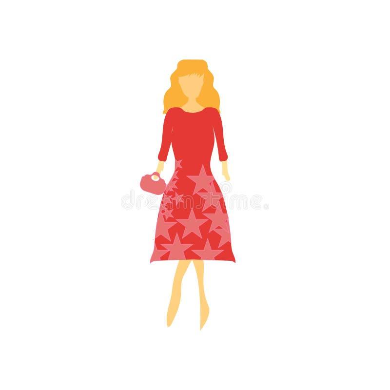 Σημάδι και σύμβολο μόδας θηλυκό πρότυπο διανυσματικό διανυσματικό που απομονώνονται στο άσπρο υπόβαθρο, θηλυκή πρότυπη διανυσματι απεικόνιση αποθεμάτων