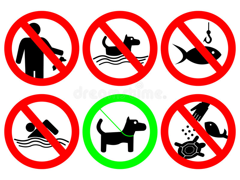 σημάδι κανόνων πάρκων απεικόνιση αποθεμάτων